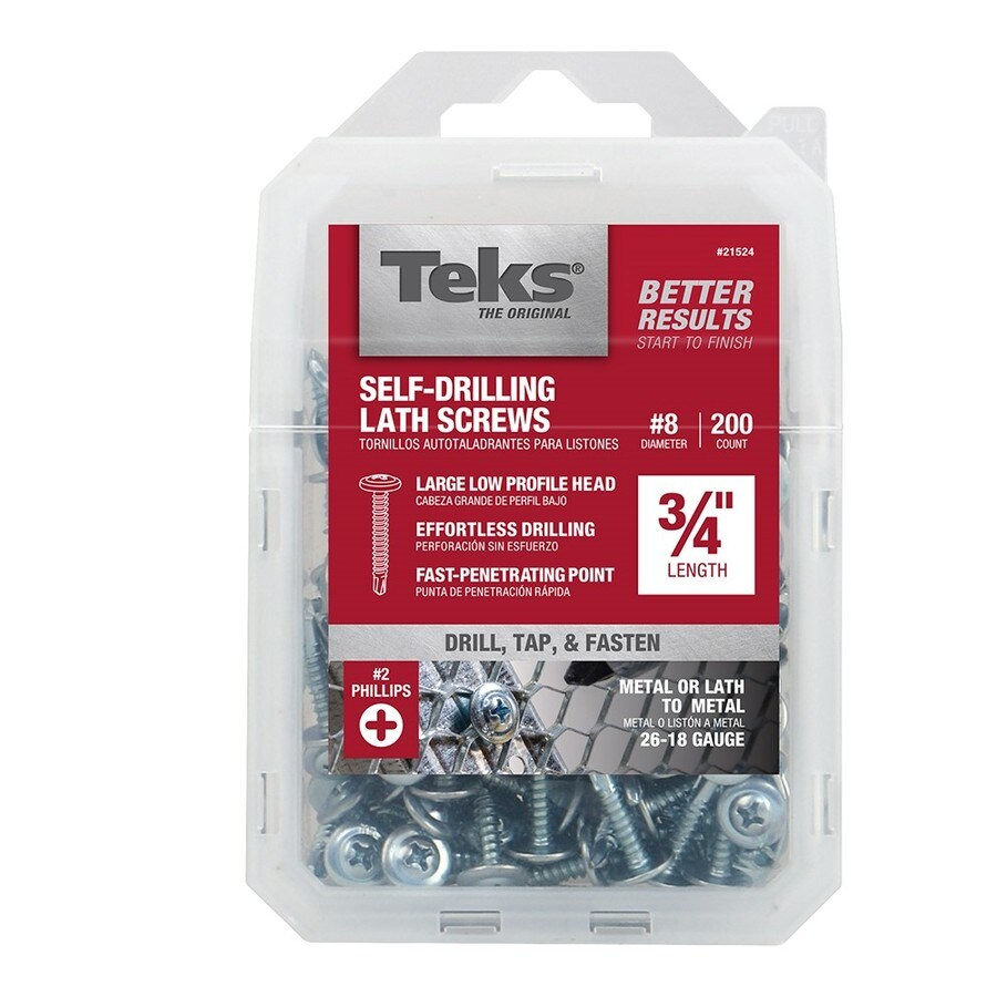 Teks 8 X 3 4 In Phillips Drive Sheet Metal Screws 200