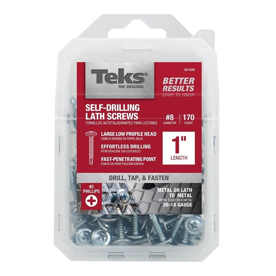 Teks 170-Count #8 x 1-in Roofing Screws