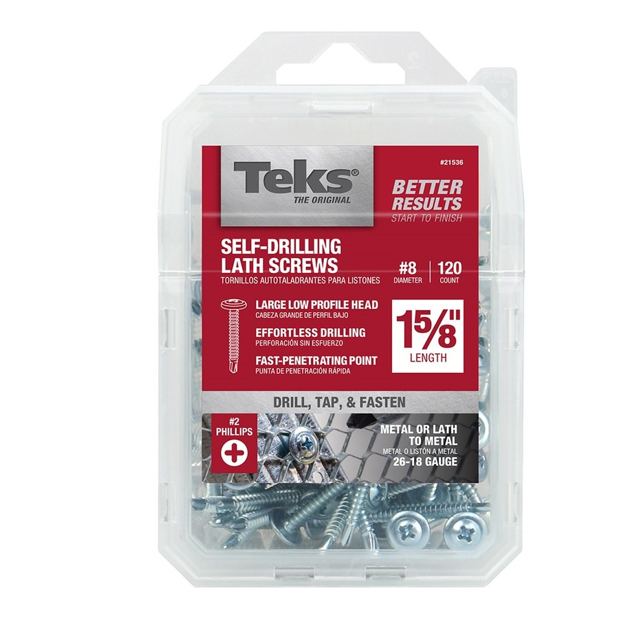 Teks 120-Count #8 x 1-in Roofing Screws
