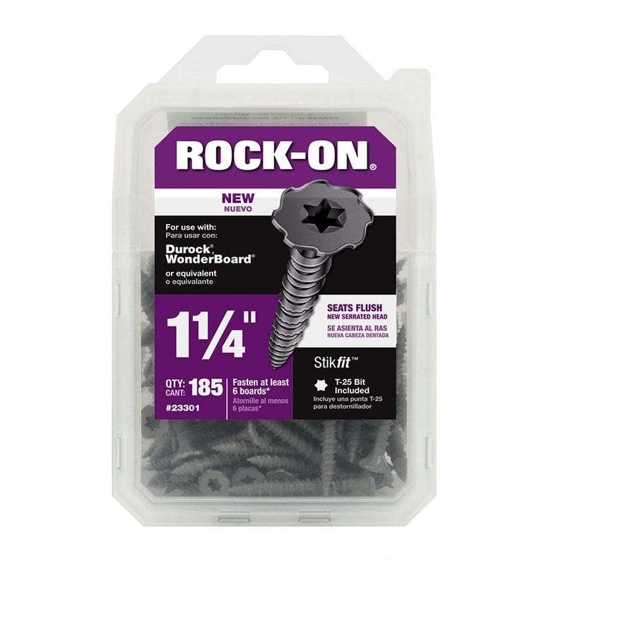 Rock-On 185-Count #9 x 1.25-in Zinc-Plated Self-Drilling Star-Drive Interior Cement Board Screw