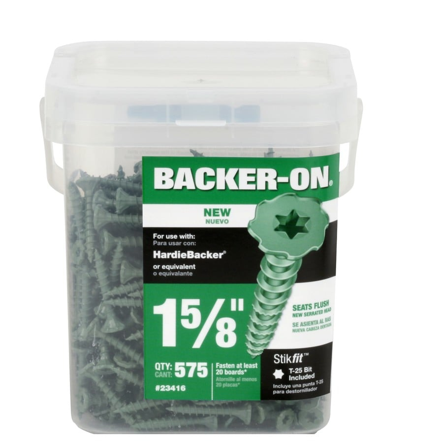 Backer-On 575-Count #9 x 1.625-in Zinc-Plated Self-Drilling Star-Drive Interior Cement Board Screw