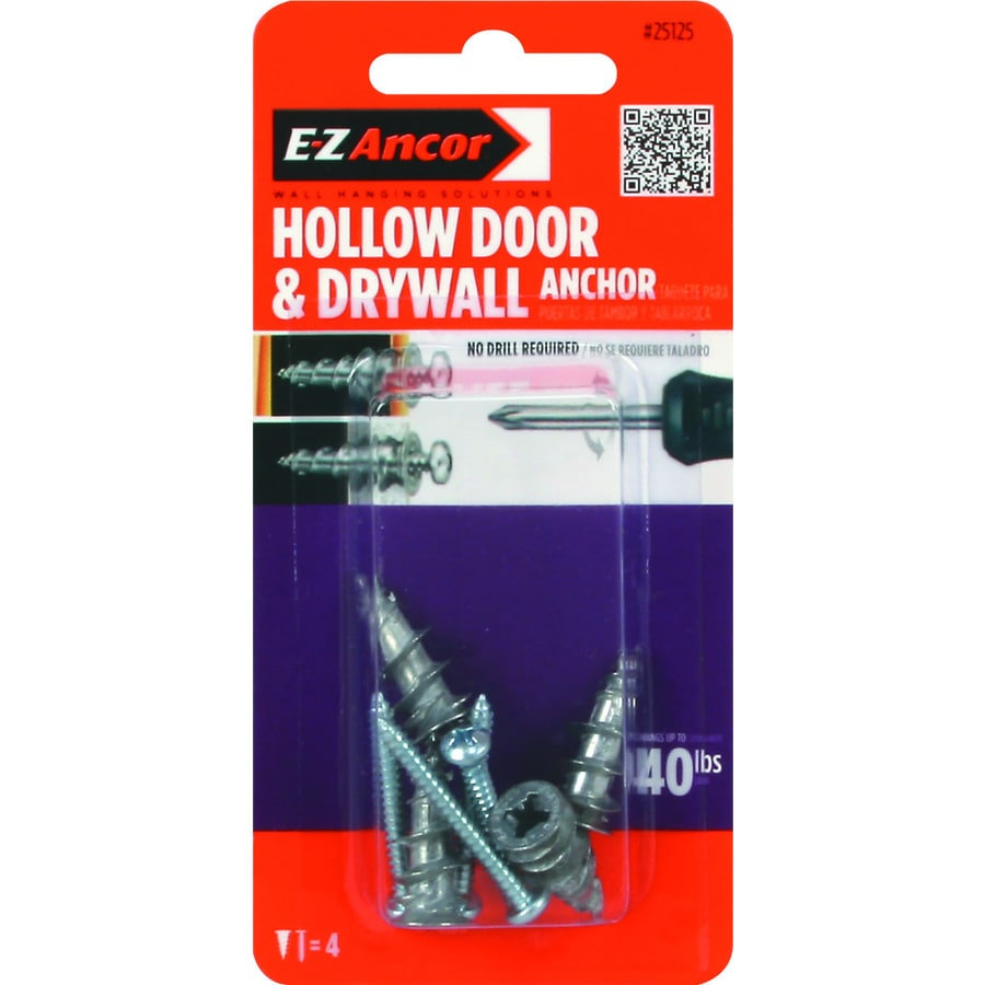 E-Z Ancor 4-Pack 1.25-in x 0.375-in Standard Drywall Anchor