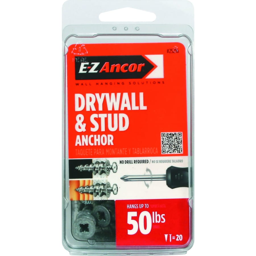 E-Z Ancor 20-Pack 1.25-in x 0.5-in Standard Drywall Anchor