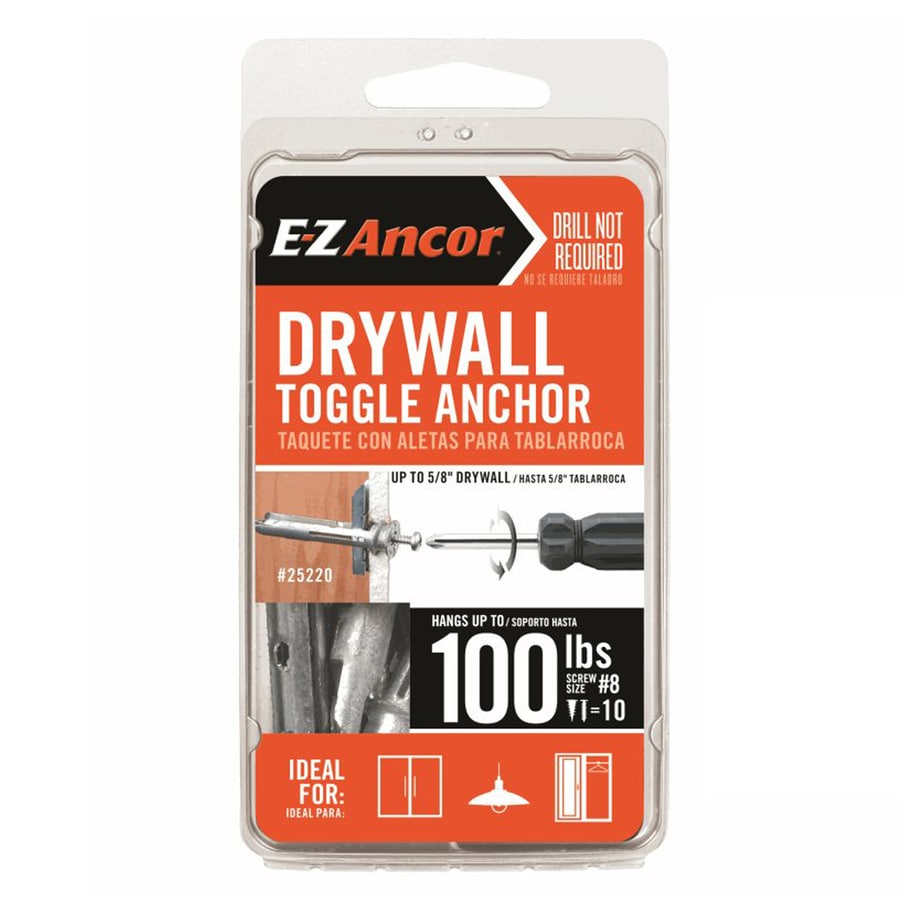 E-Z Ancor 10-Pack 2.5-in x 0.625-in Standard Drywall Anchors