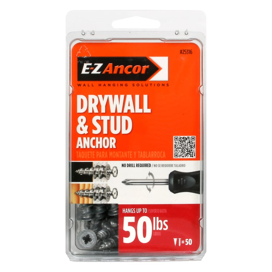 E-Z Ancor 50-Pack 1.25-in x 0.5-in Standard Drywall Anchor