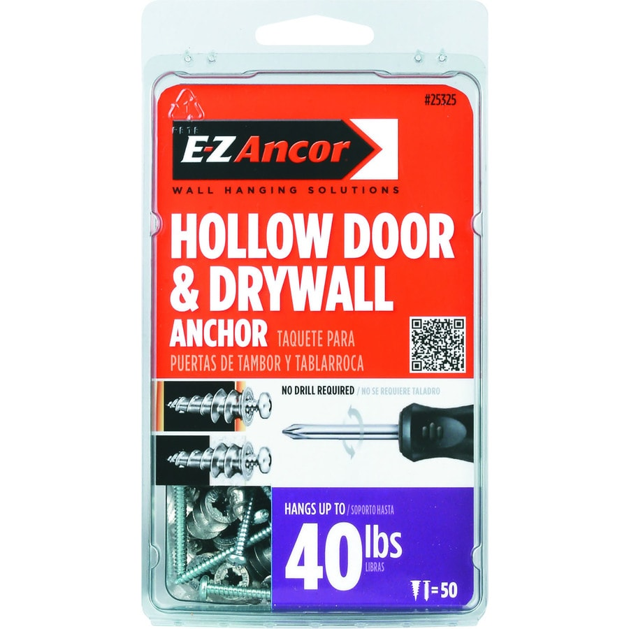 E-Z Ancor 50-Pack 1-in x 0.375-in Mini Drywall Anchor