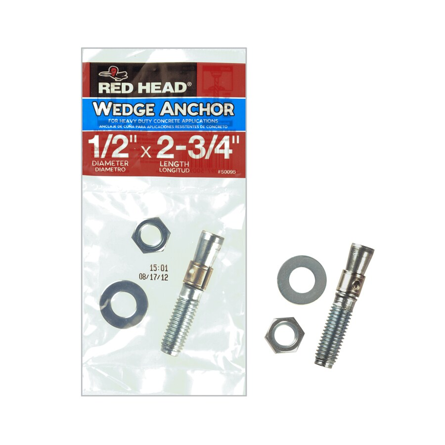 Red Head Trubolt 2.75-in x 0.5-in Zinc-Plated Carbon Steel Heavy-Duty Wedge Anchor