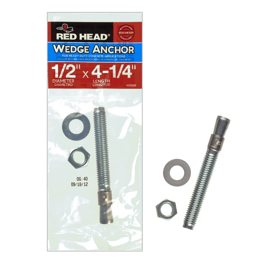 Red Head 1/2-in x 4-1/4-in Wedge Anchor for Solid Concrete