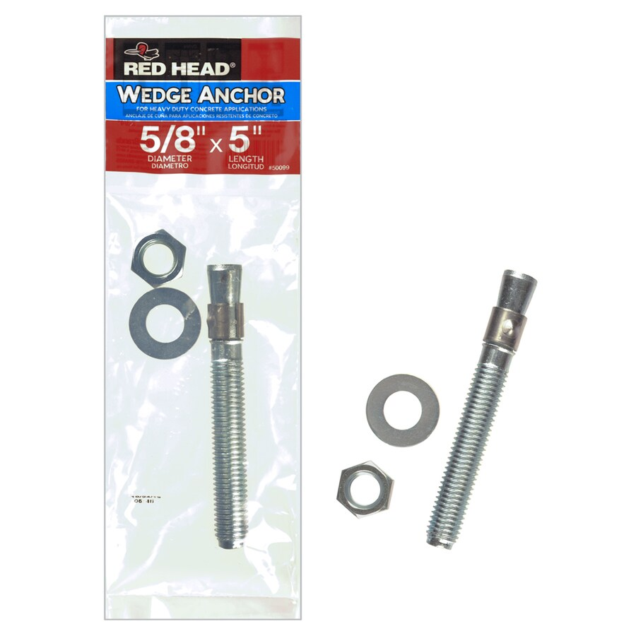 Red Head 5/8-in x 5-in Wedge Anchor for Solid Concrete