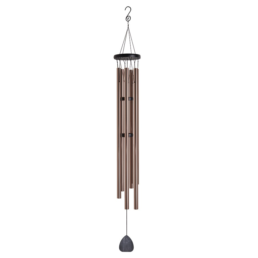 Garden Treasures 57-in Black and Bronze Metal Modern Wind Chime