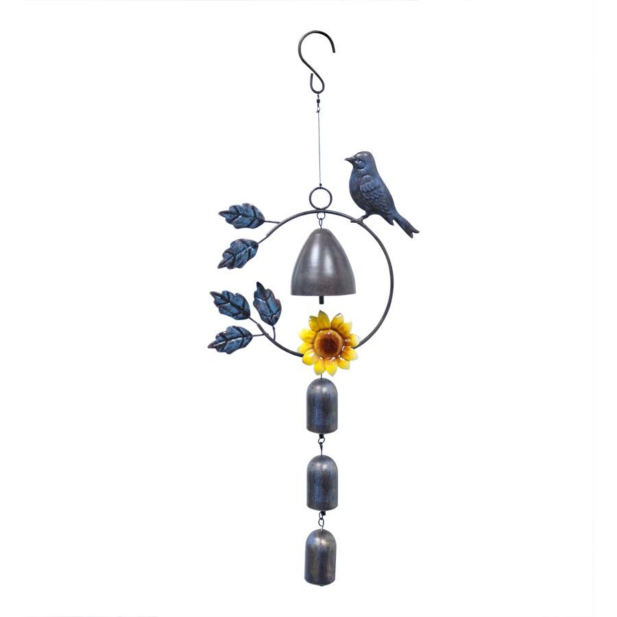 Garden Treasures 21-in Multicolor Metal Wind Chime