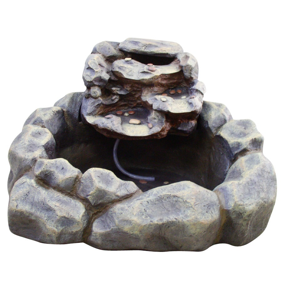 Garden Treasures River Rock 2-Tier Fountain