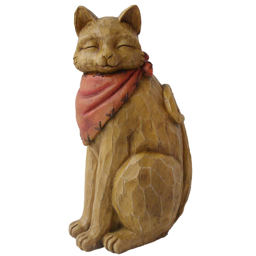 Shop Western Cat Garden Statue at Lowes.com