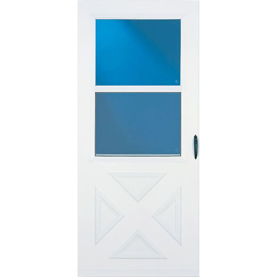 LARSON 31.56-in x 81.13-in White High-View Safety Storm Door