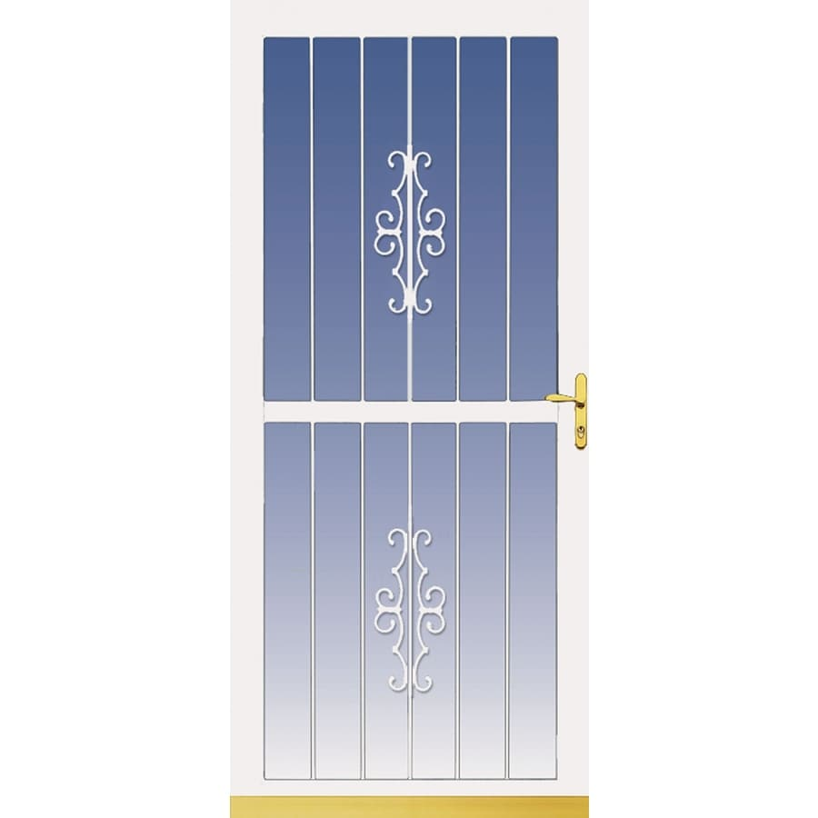 LARSON Classic View White Full-View Aluminum Storm Door (Common: 32-in x 81-in; Actual: 31.75-in x 79.75-in)