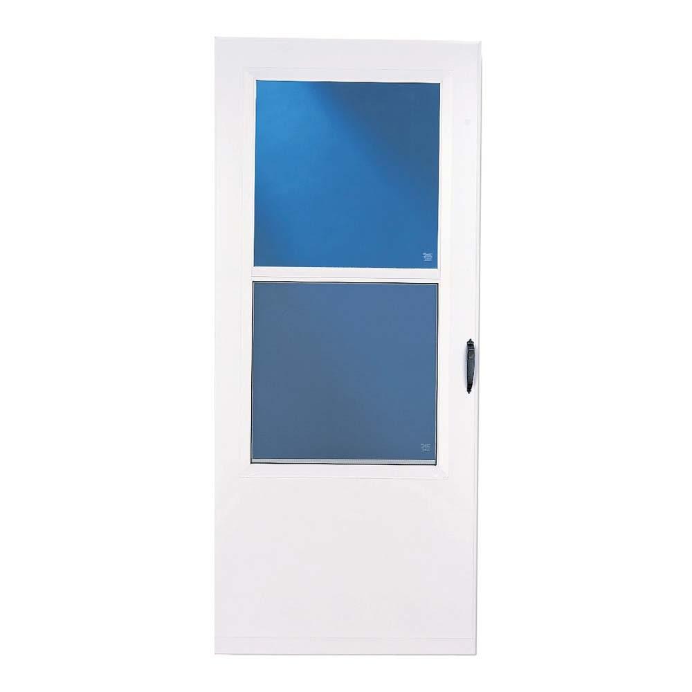Shop larson 32 white bismarck storm door at for Lowes storm doors