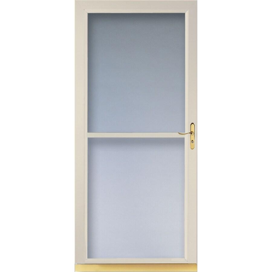 LARSON Tradewinds Almond Full-View Aluminum Storm Door (Common: 36-in x 81-in; Actual: 35.75-in x 79.75-in)
