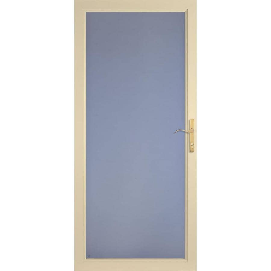 LARSON Secure Elegance Almond Full-View Aluminum Standard Storm Door  (Common: 36-in x 81-in; Actual: 35.75-in x 79.75-in)