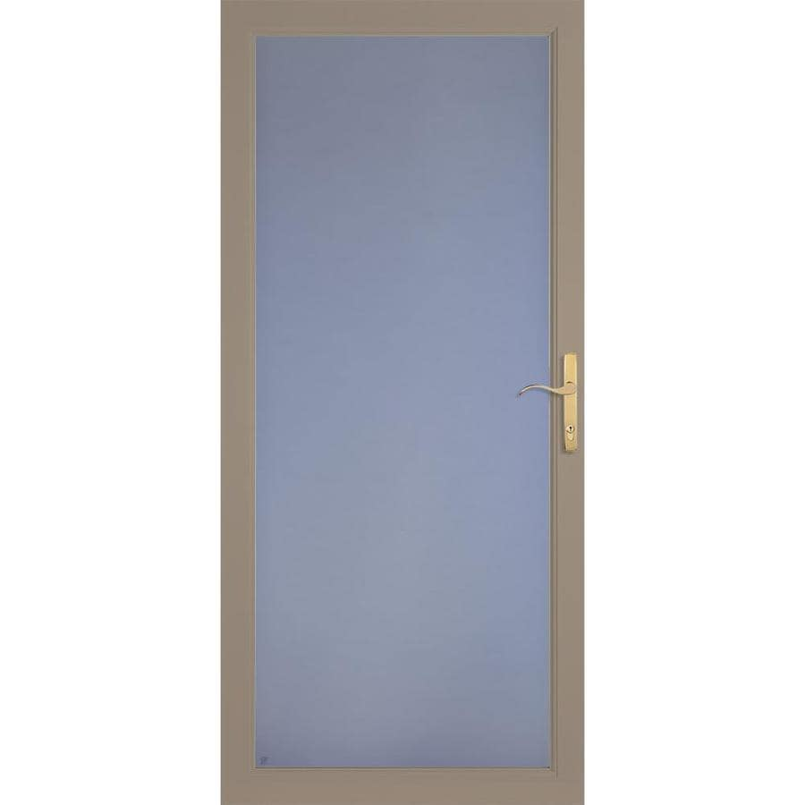 LARSON Secure Elegance Sandstone Full-View Aluminum Standard Storm Door (Common: 36-in x 81-in; Actual: 35.75-in x 79.75-in)