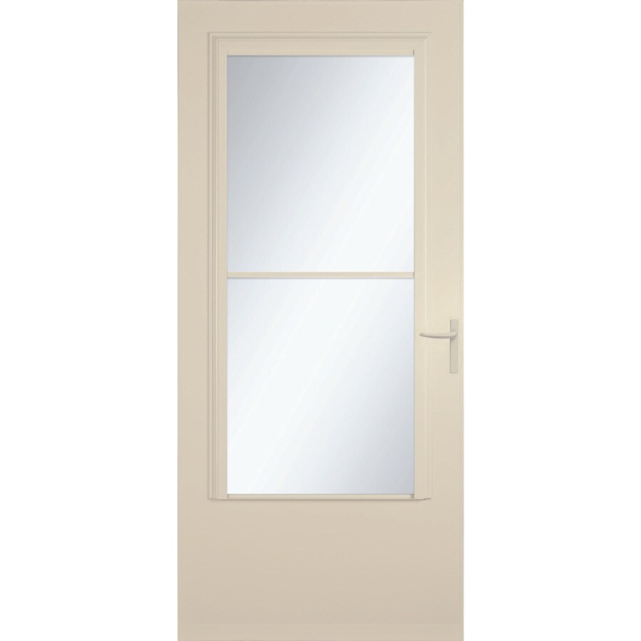 Shop larson concord almond mid view wood core storm door for 30 inch storm door