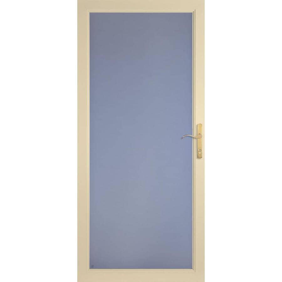 LARSON Secure Elegance Almond Full-View Aluminum Storm Door (Common: 32-in x 81-in; Actual: 31.75-in x 79.75-in)