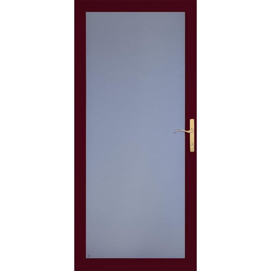 LARSON Secure Elegance Cranberry Full-View Laminated Security Glass Storm Door (Common: 32-in x 81-in; Actual: 31.75-in x 79.75-in)