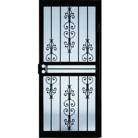 security doors at lowes. exellent security larson garden view steel recessed mount single security door with doors at lowes