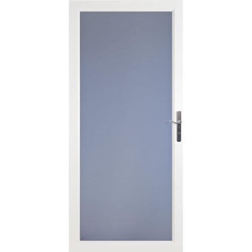 Larson Secure Elegance White Full View Aluminum Storm Door