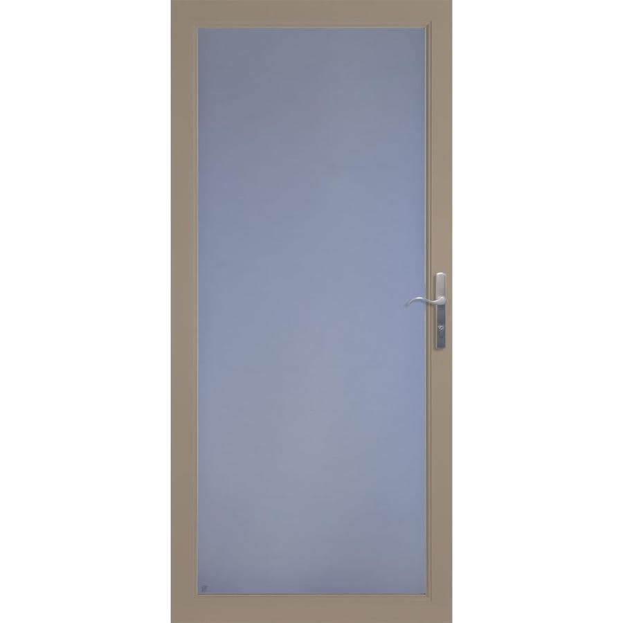 LARSON Secure Elegance Sandstone Full-View Laminated Security Glass Storm Door (Common: 36-in x 81-in; Actual: 35.75-in x 79.75-in)