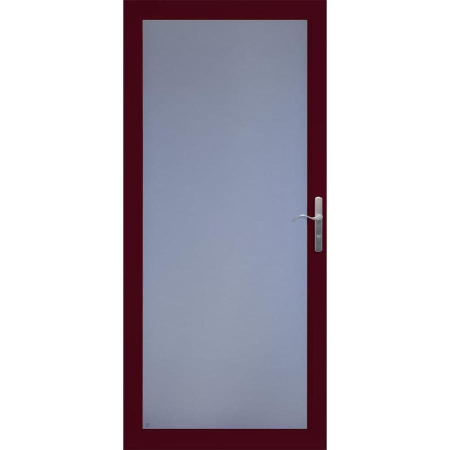 LARSON Cranberry Full-View Aluminum Standard Storm Door (Common: 32-in x 81-in; Actual: 31.75-in x 79.75-in)