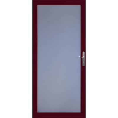 Larson Red Storm Doors At Lowes Com
