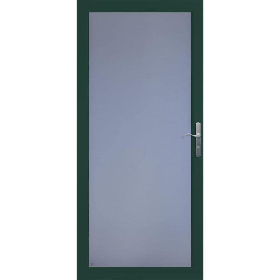 LARSON Secure Elegance Green Full-View Aluminum Standard Storm Door (Common: 32-in x 81-in; Actual: 31.75-in x 79.75-in)