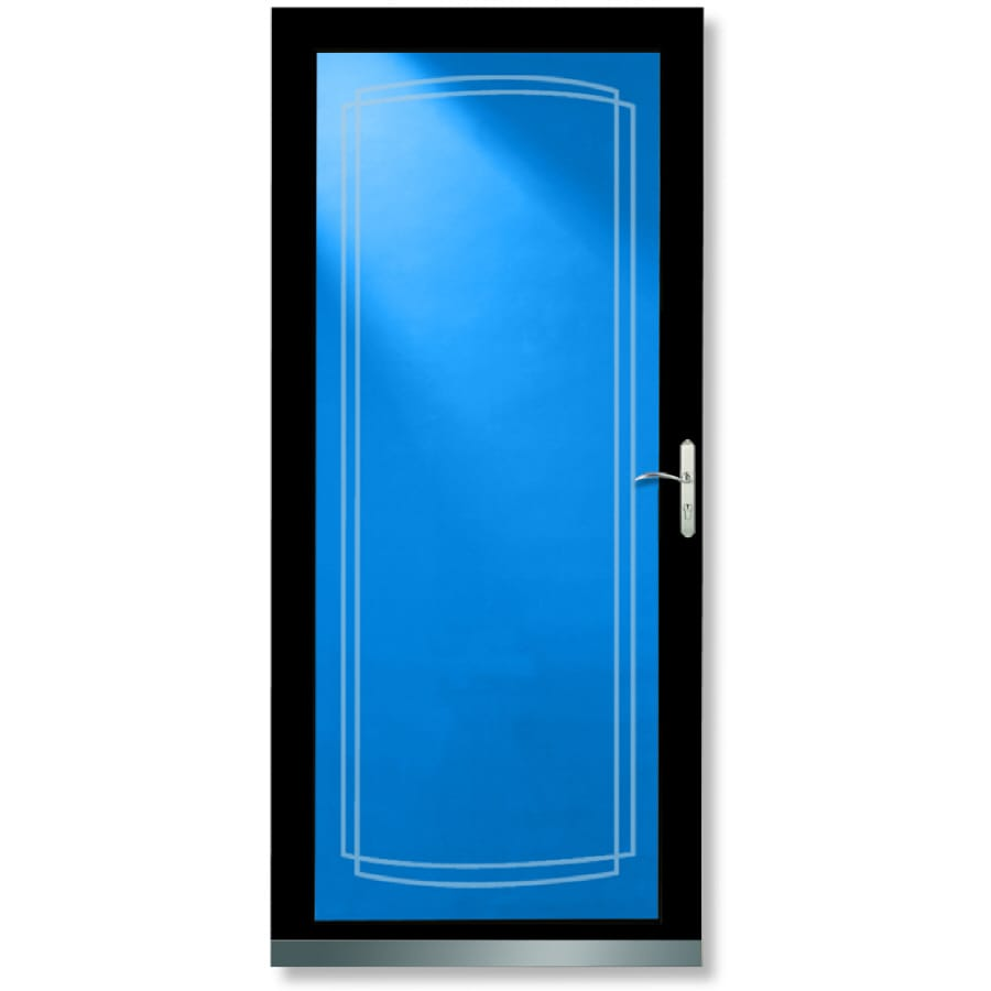 LARSON Signature Black Full-View Aluminum Storm Door (Common: 36-in x 81-in; Actual: 35.75-in x 79.75-in)