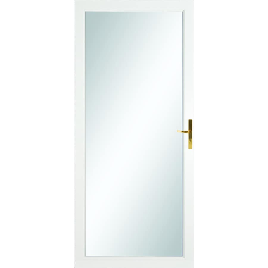 Shop Larson White Full View Aluminum Standard Storm Door