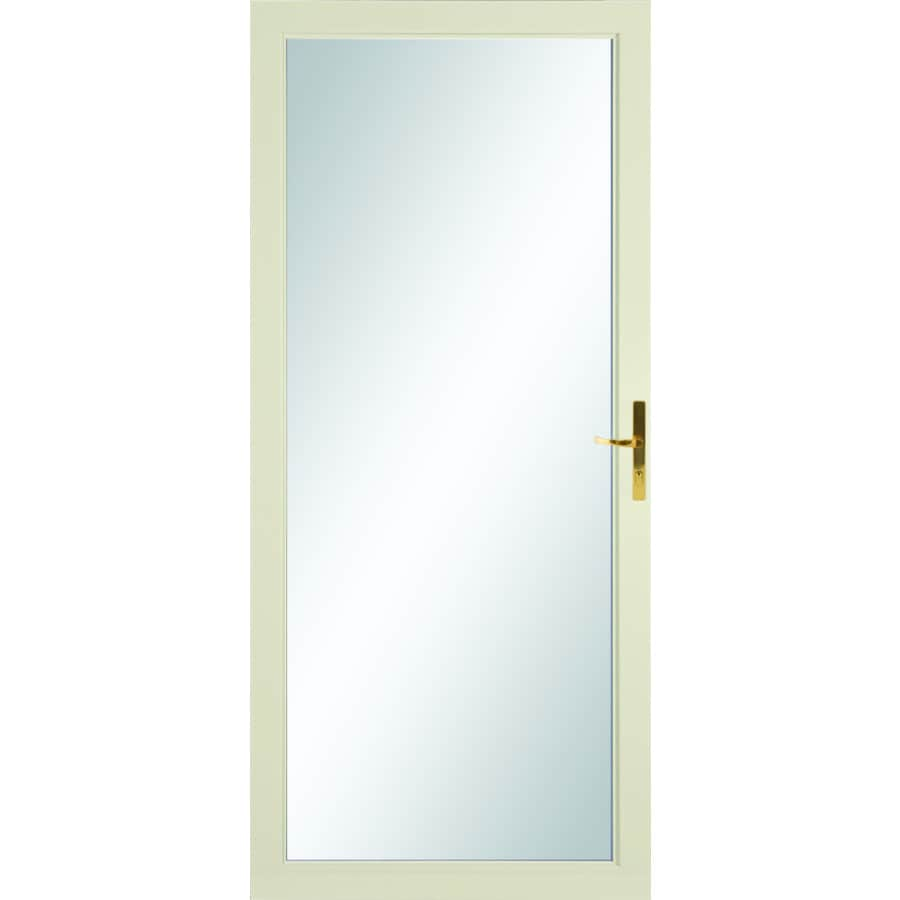 LARSON Williamsburg Almond Full-View Aluminum Standard Storm Door (Common: 36-in x 81-in; Actual: 35.75-in x 79.75-in)