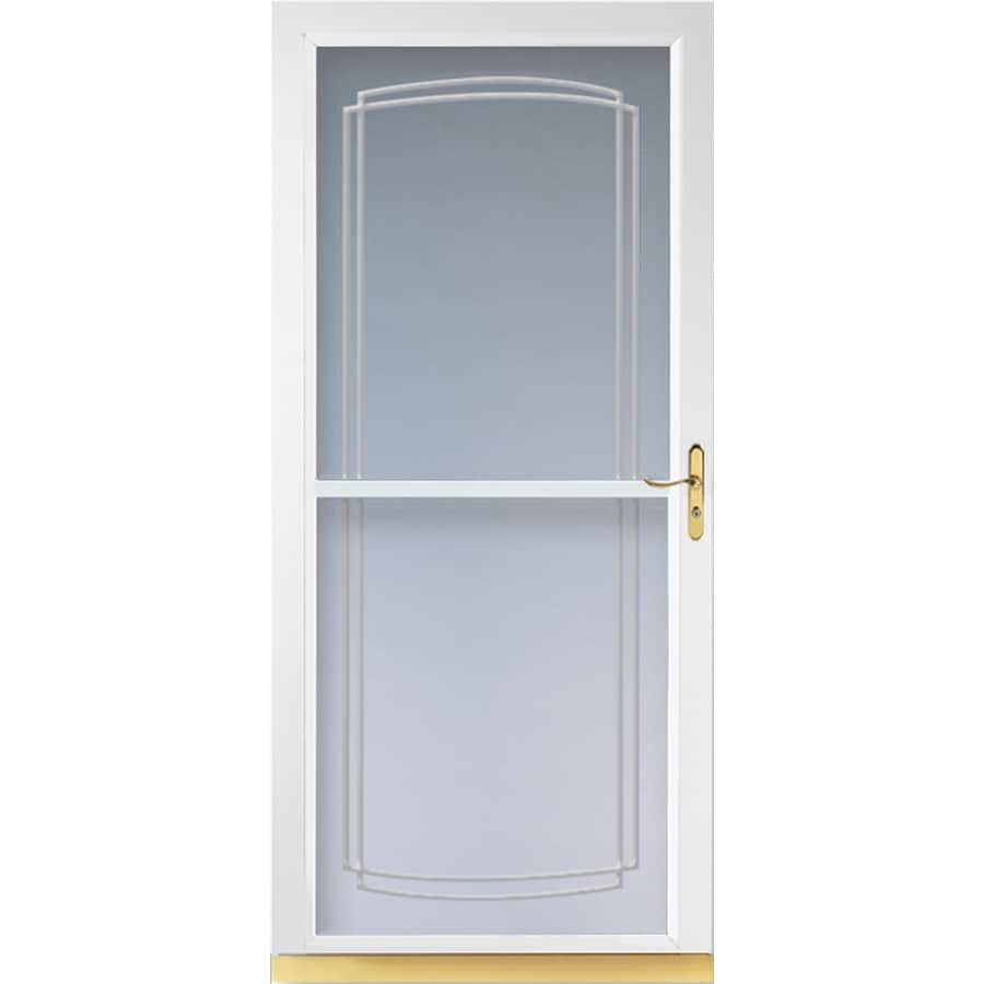 LARSON Tradewinds White Full-View Aluminum Storm Door (Common: 36-in x 81-in; Actual: 35.75-in x 79.75-in)