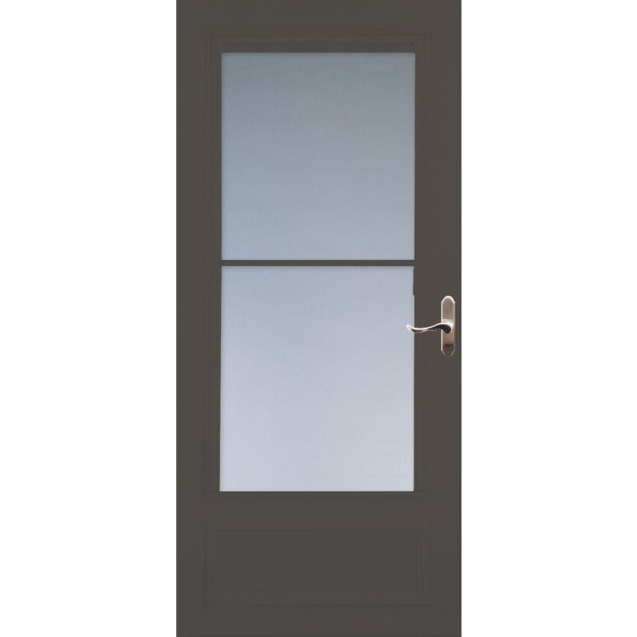 Shop larson savannah brown mid view wood core storm door for 32x80 storm door