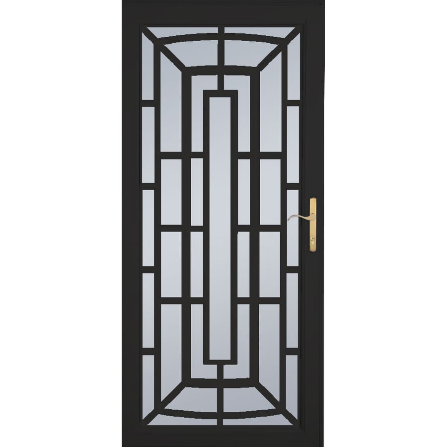 Aluminum Security Doors : Shop larson annapolis brass black aluminum security door