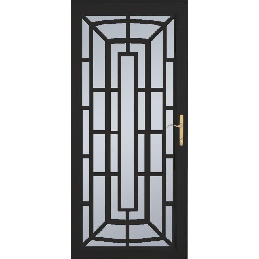 Shop Larson Annapolis Brass Black Aluminum Security Door