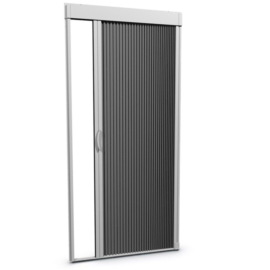 Shop larson inspire white aluminum retractable curtain for Phantom door screens prices