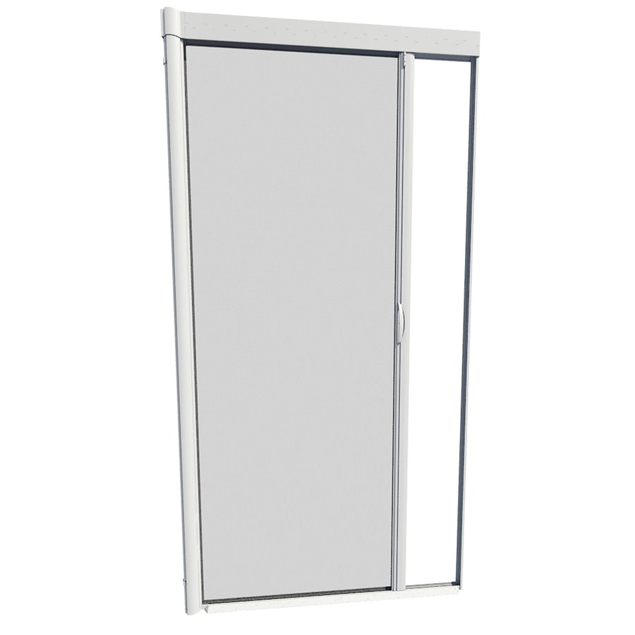 Genial LARSON White Retractable Screen Door (Actual: 39 In X 79 In)