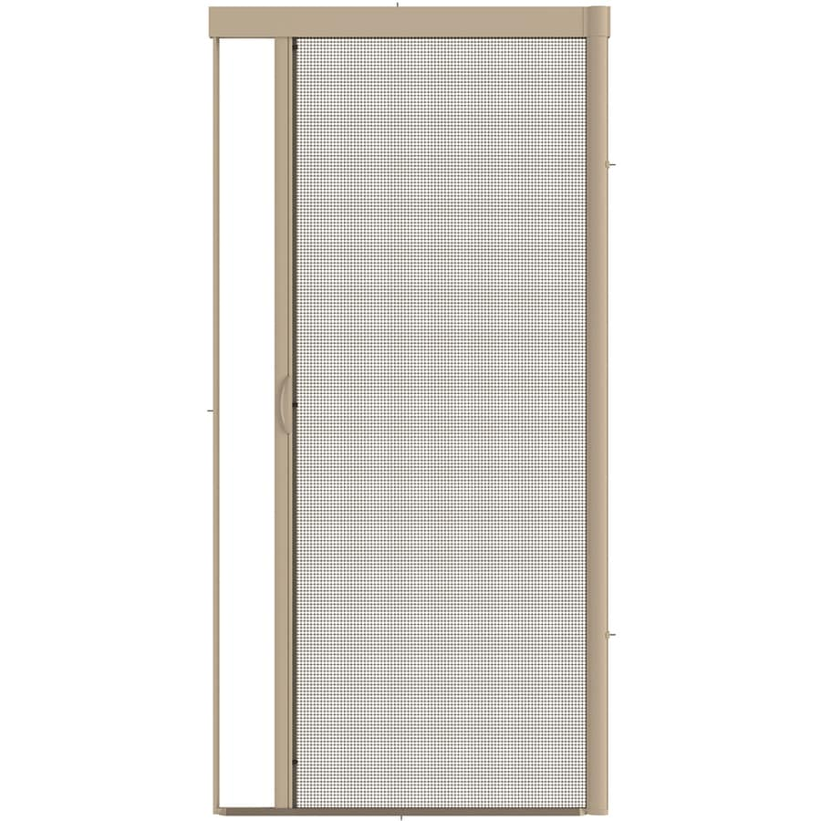 Shop larson escape desert tan aluminum retractable screen for Disappearing screen doors lowes