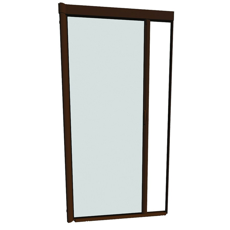 LARSON Escape Brownstone Aluminum Retractable Screen Door (Common: 48-in x 93-in; Actual: 48-in x 91-in)
