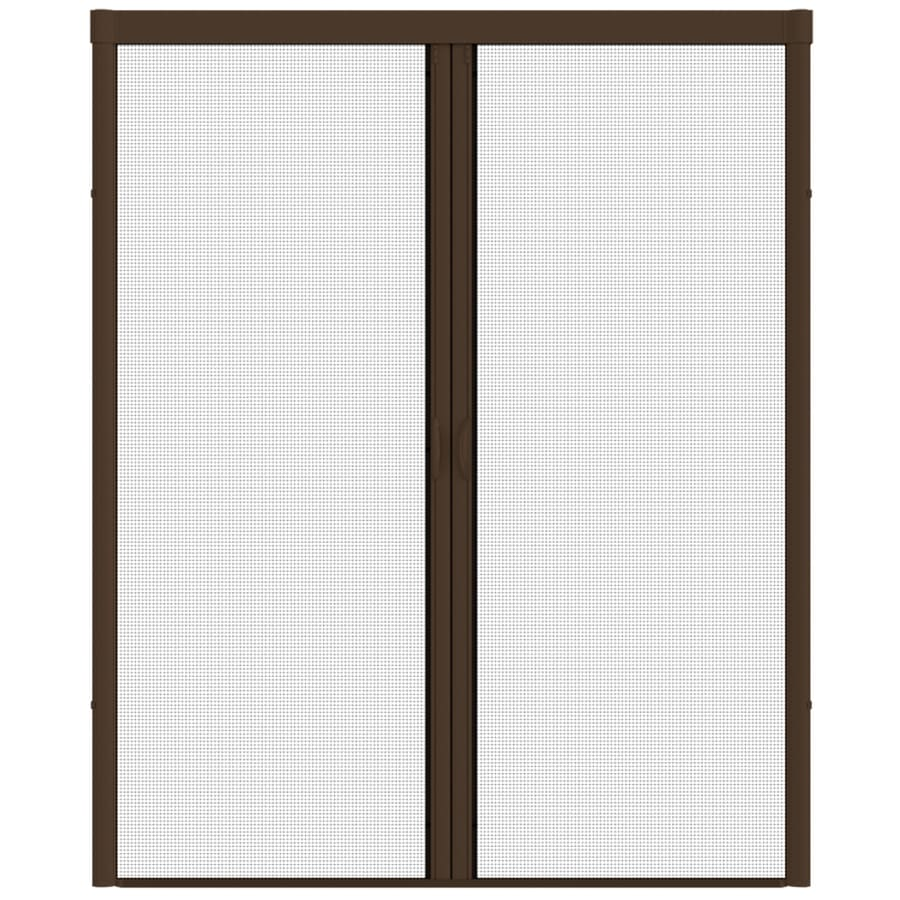 Shop larson escape brownstone aluminum retractable curtain for Retractable screen door