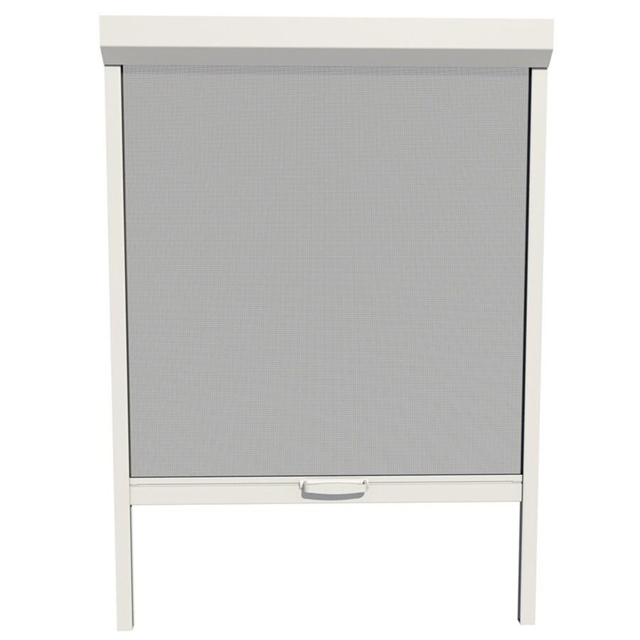 shop larson naturevue white aluminum retractable curtain screen door