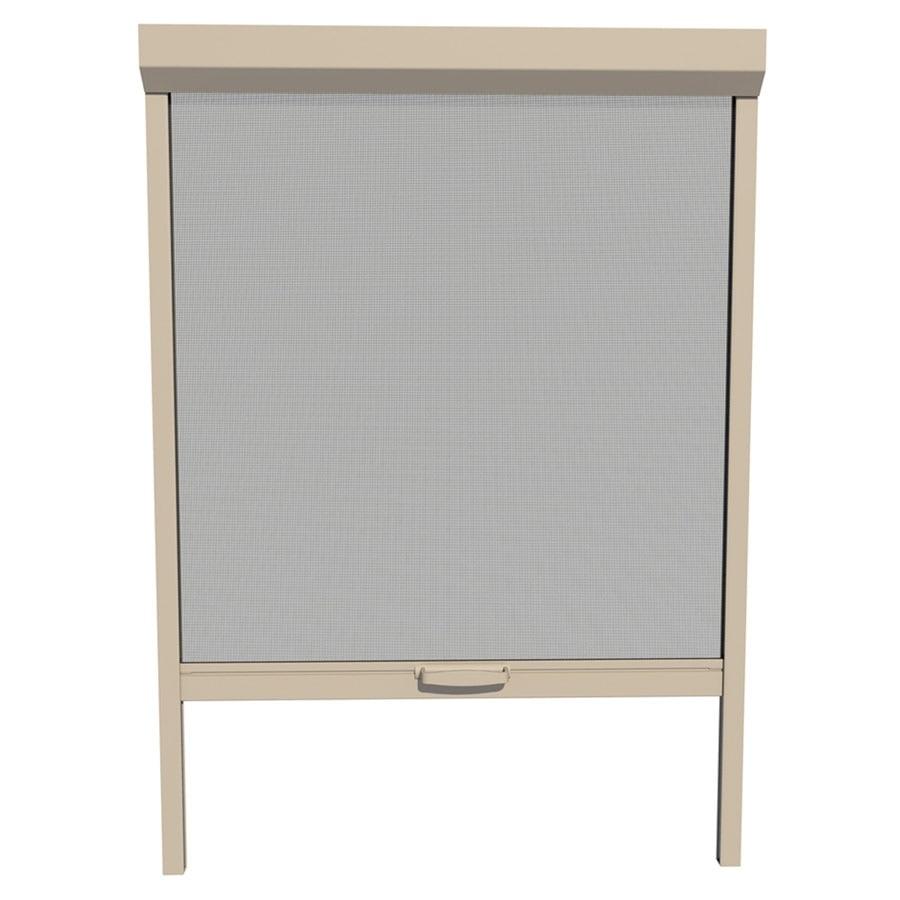 Shop larson naturevue desert tan aluminum retractable for Hidden sliding screen door