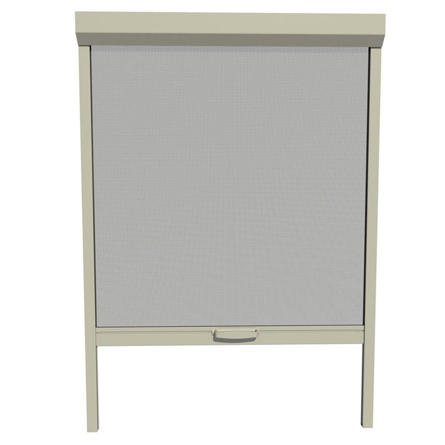 Shop larson 36 in x 72 in adobe retractable screen door at for Retractable screen door lowes