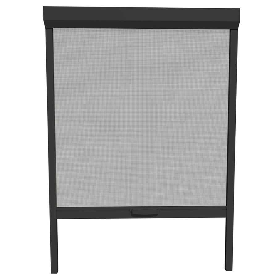 LARSON NatureVue Black Aluminum Retractable Curtain Screen Door (Common: 30-in x 72-in; Actual: 30-in x 72-in)