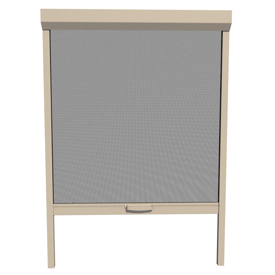 LARSON Naturevue Desert Tan Aluminum Retractable Curtain Screen Door (Common: 30-in x 72-in; Actual: 30-in x 72-in)