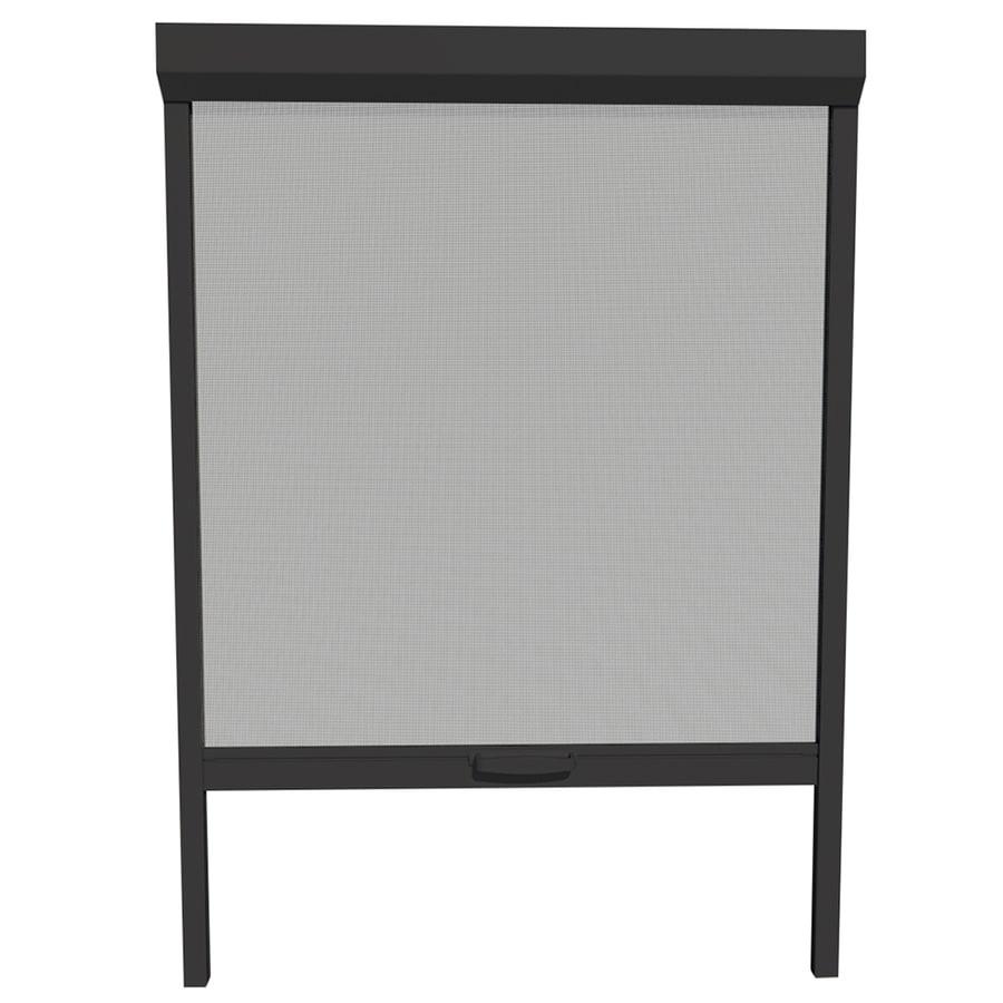 LARSON Naturevue Black Aluminum Retractable Curtain Screen Door (Common: 36-in x 72-in; Actual: 36-in x 72-in)